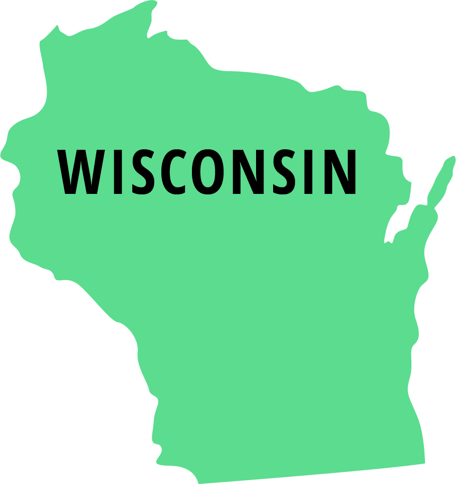 green wisconsin vector graphic - installment loans wisconsin